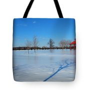Ice On Snow Tote Bag