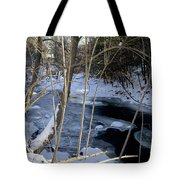 Ice On The Creek Tote Bag