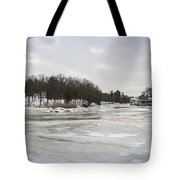 Ice On The Ipswich River Tote Bag