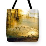 Ice On The River Tote Bag