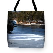 Ice On The St. Lawrence Tote Bag