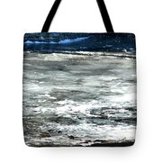 Ice On The Wisconsin River Tote Bag