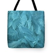 Ice Patterns Formed On Glass Tote Bag