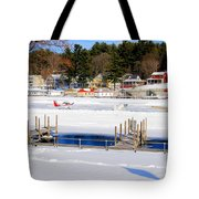 Planes On The Ice Runway In New Hampshire Tote Bag