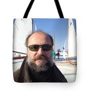 Ice Sailing On The Hudson Beard Contest Tote Bag