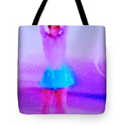 Ice Skater Abstract Tote Bag