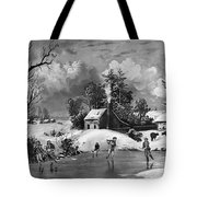 Ice Skating, 1880 Tote Bag