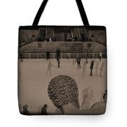 Ice Skating At Rockefeller Center In The Early Days Tote Bag