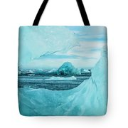Icebergs On The Southern Beach Tote Bag