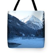Iceblue Snow Tote Bag