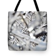 Iced Branches Tote Bag