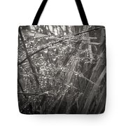 Iceland Mist Black And White Tote Bag