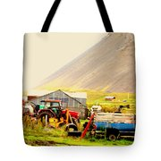 come see me at the Icelandic engine park Tote Bag