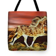 Icelandic On Fire Tote Bag