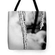 Icicle Black And White Tote Bag