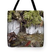 Icicles In The Stream Tote Bag