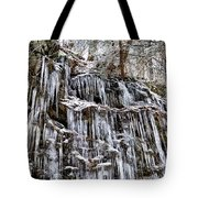 Icicles On Forbidden Drive Tote Bag