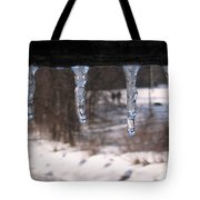 Icicles On The Bridge Tote Bag