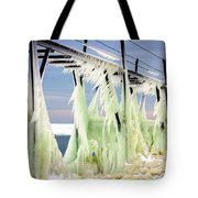 Icicles On The Catwalk Tote Bag