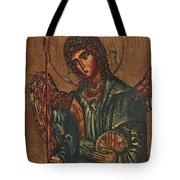 Icon Of Archangel Michael - Painting On The Wood Tote Bag