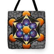 Icosahedron In A Metatron's Cube Tote Bag
