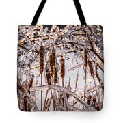 Icy Cattails Tote Bag