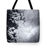 Icy Cliff - Black And White Tote Bag