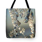 Icy Closeup Tote Bag