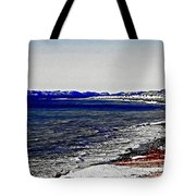 Icy Cold Seascape Digital Painting Tote Bag