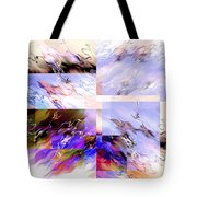 Icy Flames Tote Bag