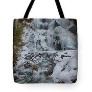 Icy Flow Of Water Tote Bag