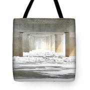 Icy Mississippi Bridge Tote Bag