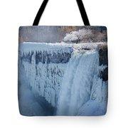 Icy Niagara Falls Tote Bag