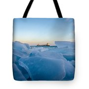 Icy Passage Tote Bag