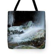 Icy Patapsco Waterfall 2 Tote Bag