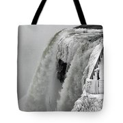 Icy Plunge At Niagara Falls Tote Bag