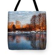 Icy Reflections At Sunrise - Lake Ontario Impressions Tote Bag