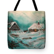 Icy Twilight Tote Bag