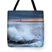 Icy Waves Tote Bag