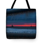 Icy Windows Tote Bag