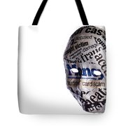 Identity Fraud Concept Mask Tote Bag