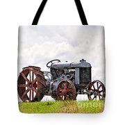 Idle Fordson Tractor On The Hill Tote Bag