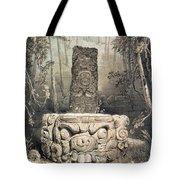 Idol And Altar At Copan Tote Bag