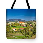 Idyllic Green Nature Of Croatian Village Of Glogovnica Tote Bag