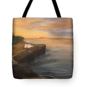 Idyllic Sunset Tote Bag