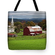 Idyllic Vermont Small Town Tote Bag