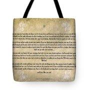 If By Rudyard Kipling Typography On Watercolor Tote Bag