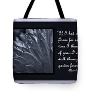 If I Had A Flower Tote Bag