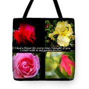 If I Had A Flower Collage Tote Bag