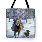 If Snowflakes Were Wishes Tote Bag